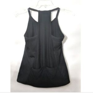 Athleta Tops - Athleta Workout Tank Top Black Racer Back Pockets